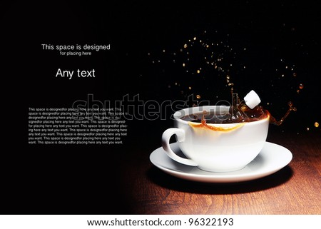 Coffee and sugar - stock photo
