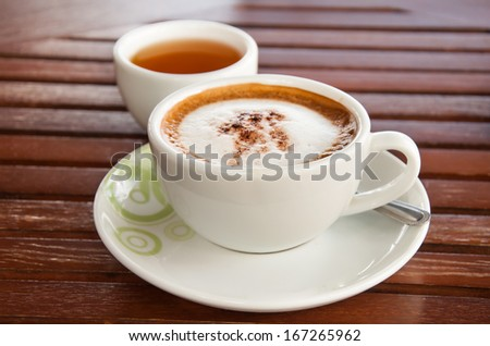 Coffee and tea - stock photo