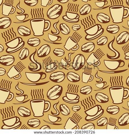 coffee background (coffee seamless background) - stock photo