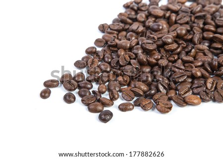 coffee bean background isolated