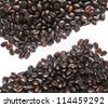 coffee bean on white background - stock photo