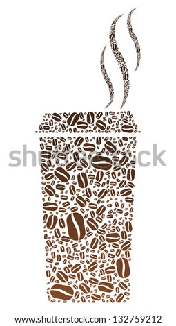 Coffee Bean Portable Cup - stock photo