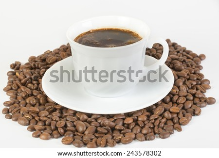 coffee beans, can be used as a background - stock photo