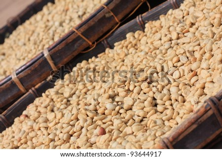 coffee beans dried processing - stock photo