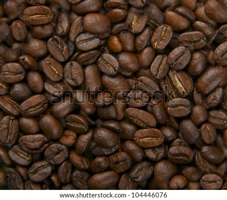 coffee beans, flavor seed background - stock photo