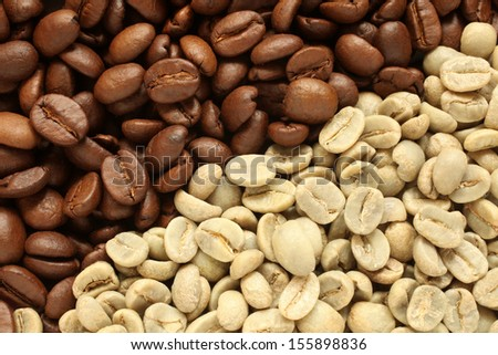 Coffee beans, for backgrounds or textures  - stock photo