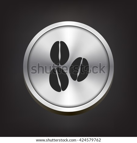 coffee beans icon. coffee beans sign - stock photo