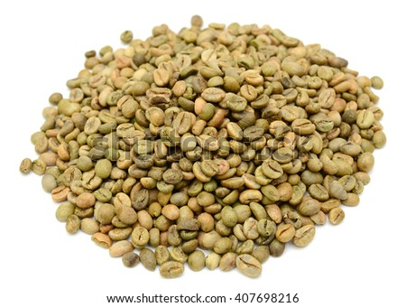 coffee beans isolated in white background cutout - stock photo