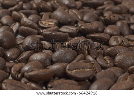 Coffee beans isolated on white background with clipping path - stock photo