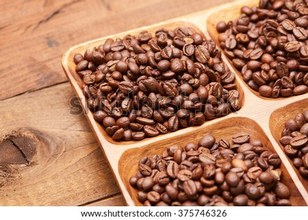 coffee beans on a platter