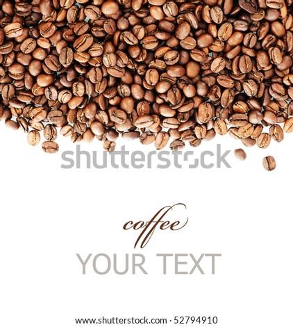 Coffee Border - stock photo