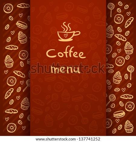 Coffee Break . Coffee time, design elements .Menu for restaurant, cafe, bar . rasterized/bitmap version - stock photo