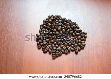 coffee   brown   bean  roasted   food drink   close-up - stock photo