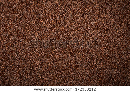 Coffee brown roasted grains texture - stock photo