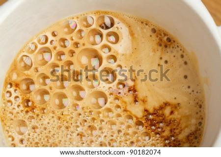 Coffee bubble background - stock photo
