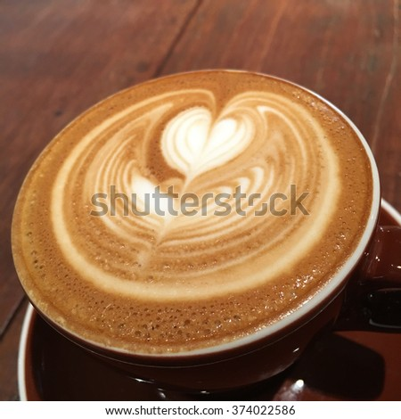 Coffee Cappuccino cup - stock photo