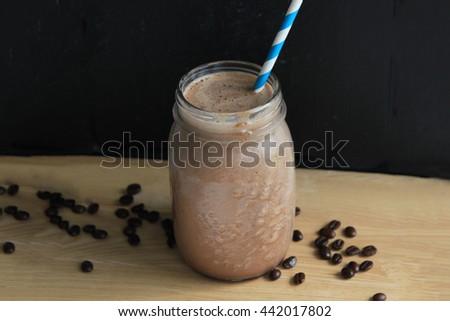 Coffee chocolate smoothie - stock photo