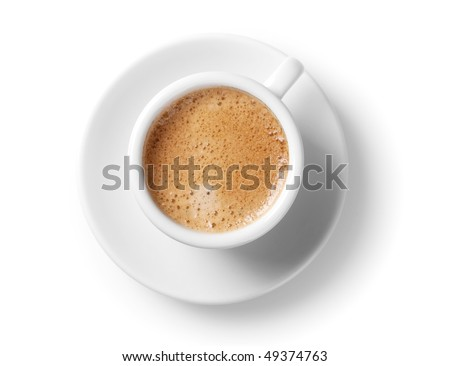 Coffee collection - Espresso Cup. Isolated on white background - stock photo