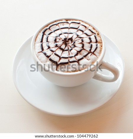 Coffee collection - Espresso Cup.  on wood background - stock photo