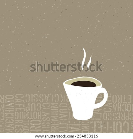 Coffee Cup Bubble Concept Illustration. Raster version - stock photo