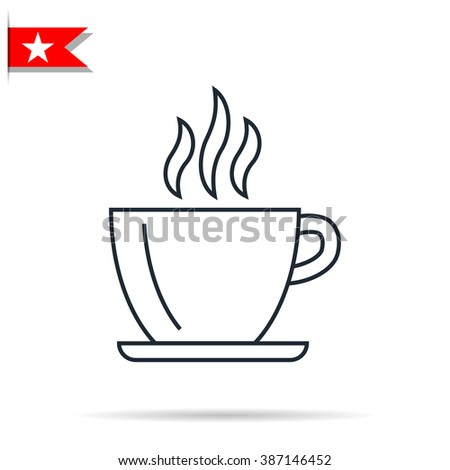 coffee cup icon - stock photo