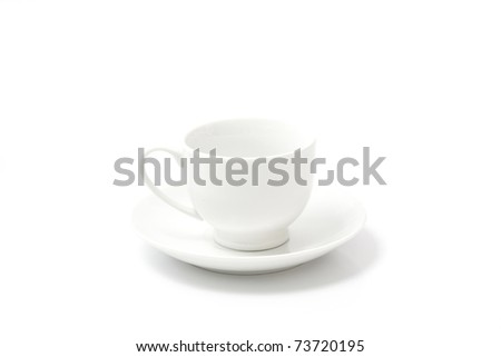 Coffee cup isolated in white background - stock photo