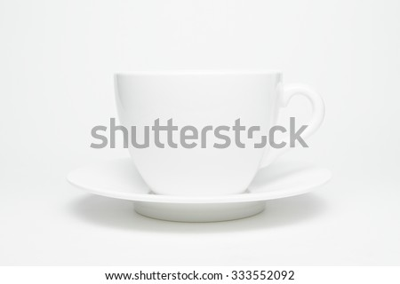 coffee cup isolated on white. - stock photo