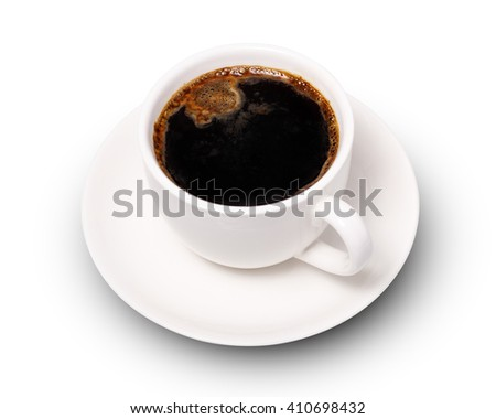 Coffee cup isolated on white background. This has clipping path.