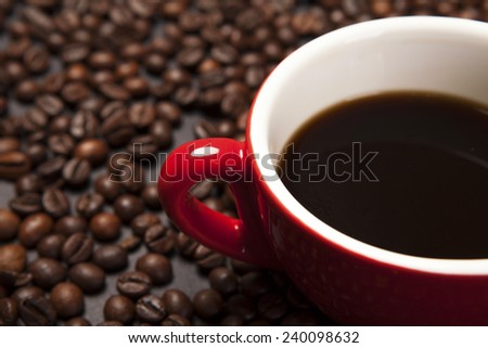 coffee cup on background - stock photo