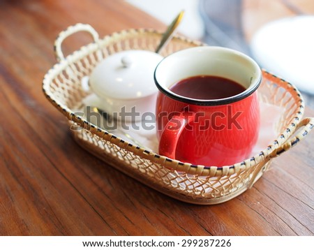 coffee cup on table in relax time