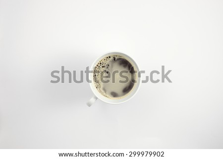 coffee cup on the white back ground seems relax mood