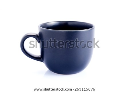 Coffee cup on white background. - stock photo