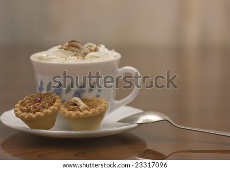 Coffee Cup Sweets Breakfast Table