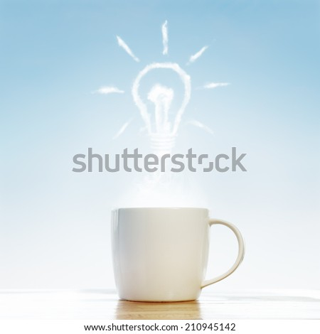 Coffee cup time get good idea - stock photo