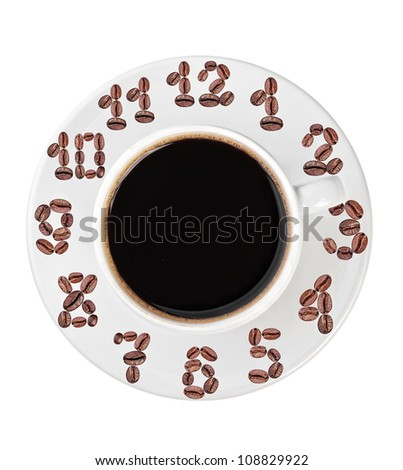 coffee cup with a dial - stock photo