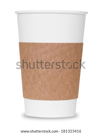 Coffee cup with clipping path - stock photo