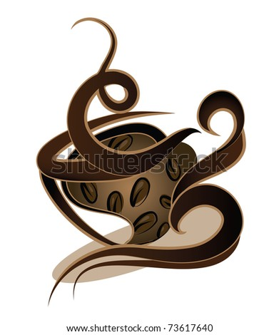 coffee design (also available vector version of this image with coffee sign) - stock photo