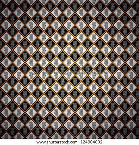 Coffee Design (Vintage Pattern Page) - stock photo