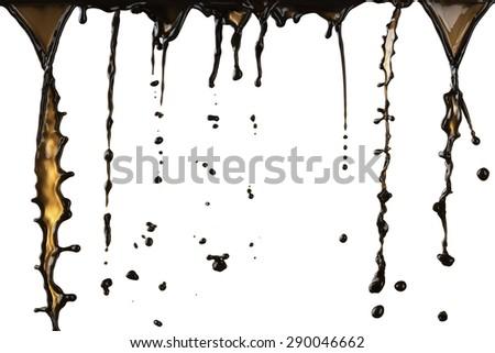 Coffee Drops and Splash - stock photo