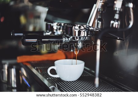 Coffee espresso and coffee espresso machine