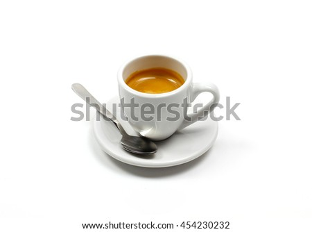 Coffee espresso in white background
