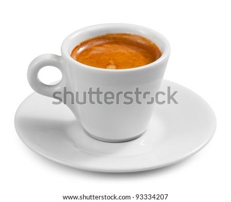 Coffee espresso isolated on white - stock photo