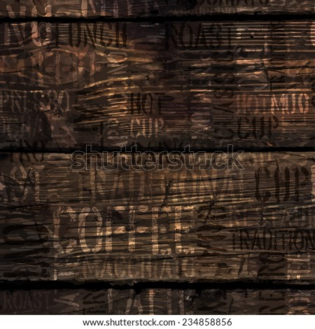 Coffee Experience Words On Wooden Texture. Raster version - stock photo