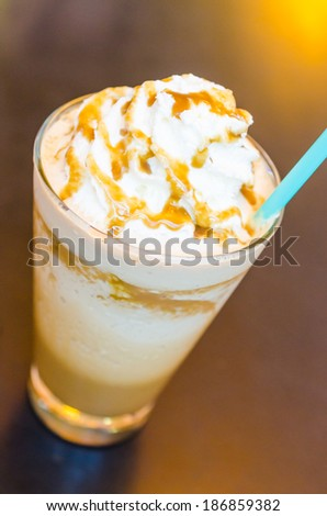 Coffee frappe in coffee shop - stock photo
