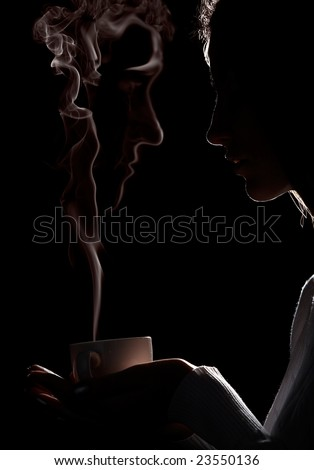 Coffee ghost - stock photo