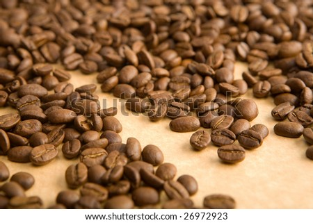 coffee grains on paper