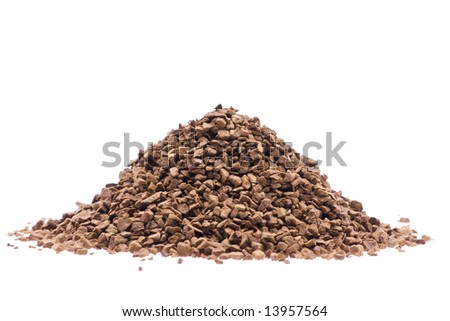 Coffee granule on white background - stock photo
