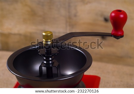 coffee grinder on the table