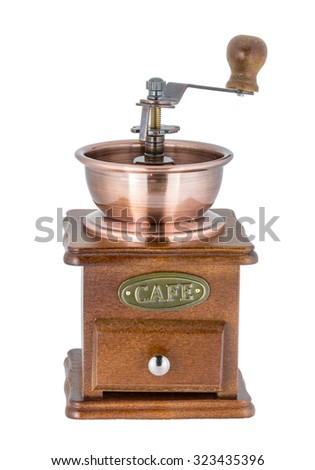 Coffee Grinder over white background