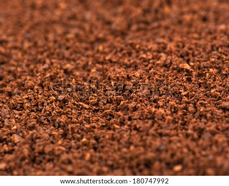 coffee ground close up texture - stock photo